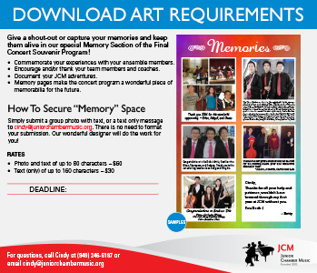 Memory Space Art Requirements
